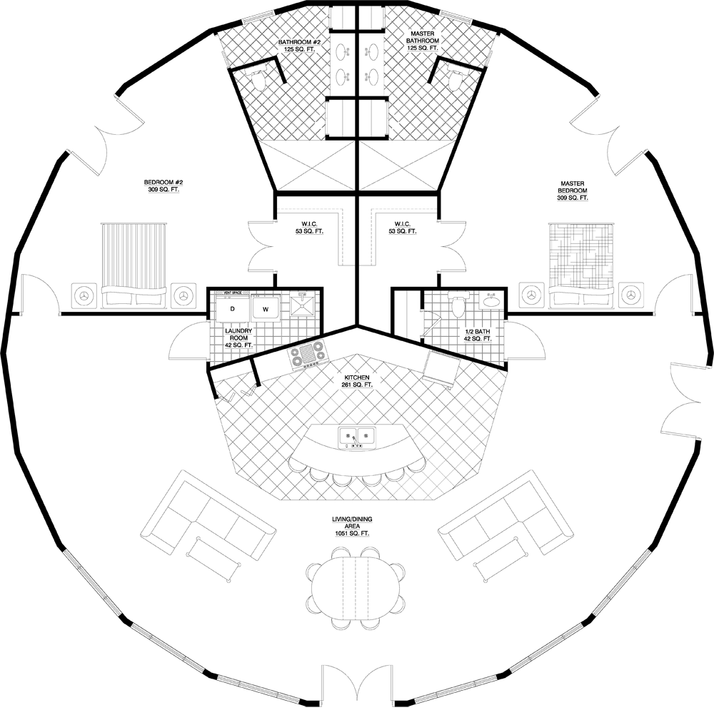 Luxury Dome Home Plans: Round/Octagonal House