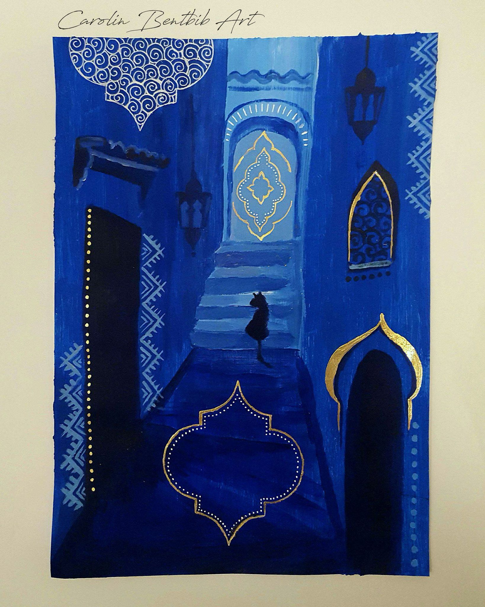 30 days of painting challenge Chefchaouen colours magical