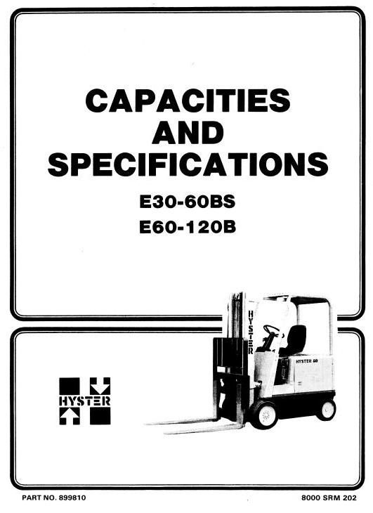 Hyster Electric Forklift Truck Type B098: E100B, E120B