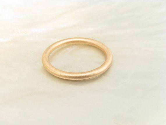 18k Rose Gold 2mm Full Round Wedding Band By RavensRefuge 48600