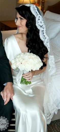 Wedding Veil Waltz Mantilla With French Bridal By AlisaBrides