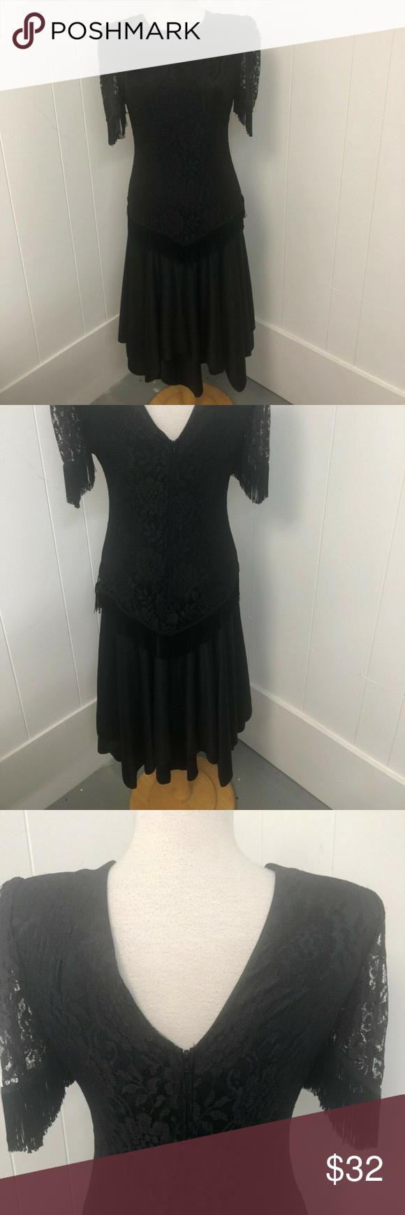 David Rose Vintage Black Lace Dress Women S Sz 8 Vintage Black Lace Dress Womens Dresses Black Lace Dress [ 1740 x 580 Pixel ]