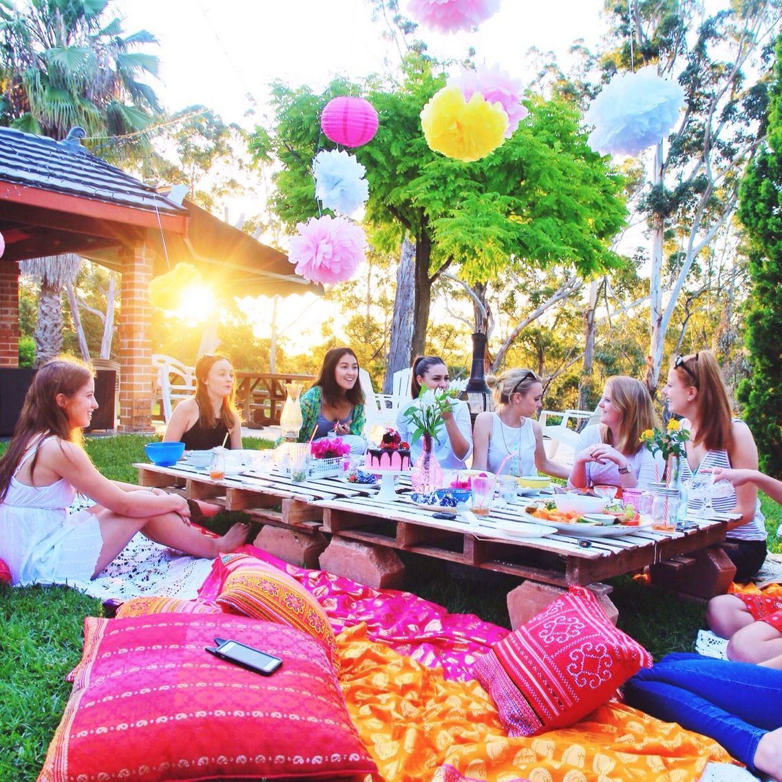 my take on an outdoor birthday picnic outdoor dinner pinterest