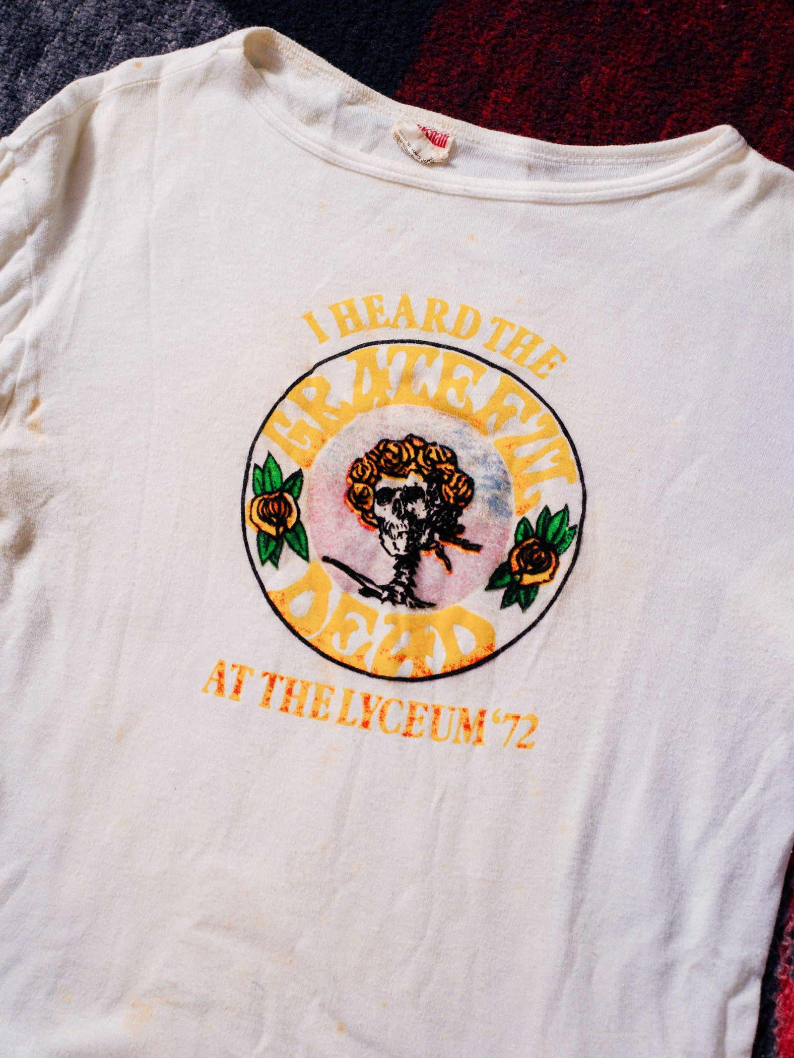 d1033da22 A recovered gem from the Dan Healy T-shirt archive, commemorating the four  Lyceum shows that concluded the Grateful Dead's first-ever European tour.
