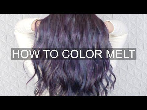 OIL SLICK HAIR COLOR TUTORIAL - YouTube   Hair   Pinterest   Color ...