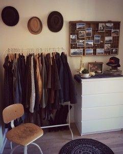 Inspiration Schlafzimmer Kleiderstange Kommode Teppich Ikea Stuhl
