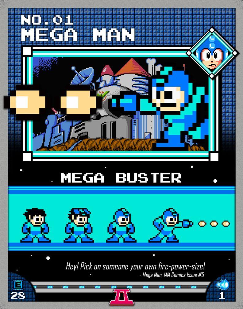 Retro Mega Man Game Poster////NES Game Poster////Video Game Poster////Vintage Game Cov