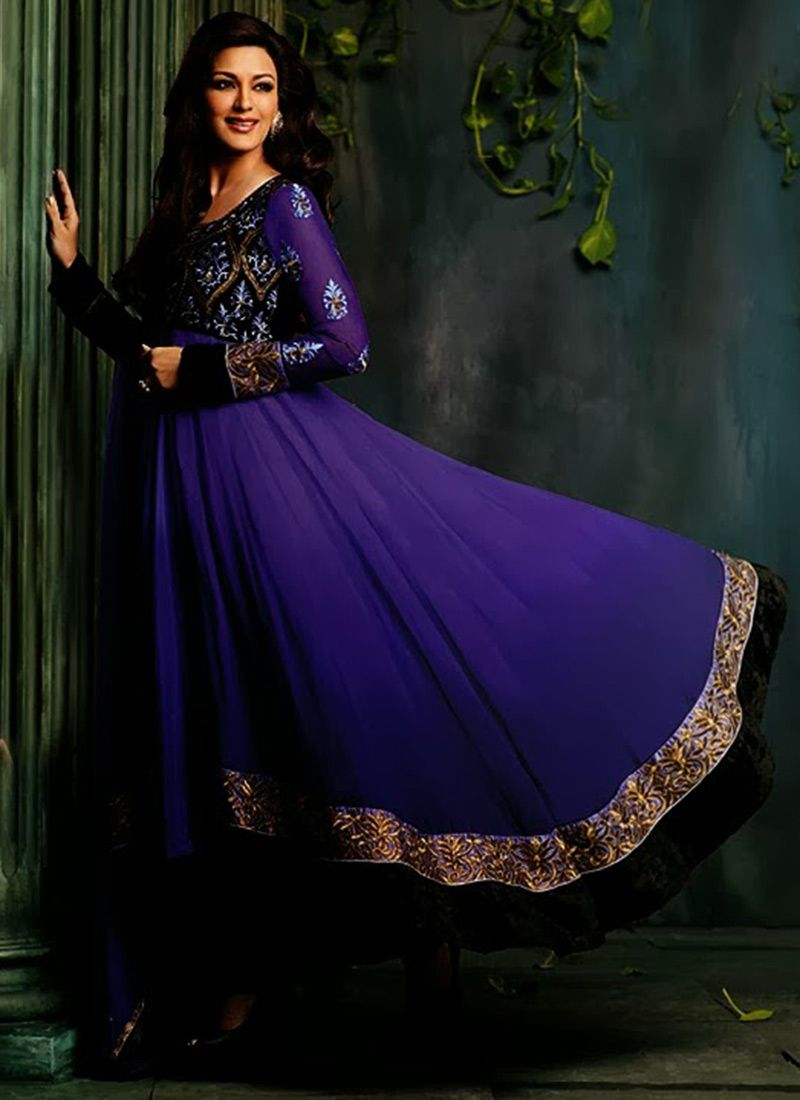 Violet #SonaliBendre Ankle Length #Anarkali Suit | The Indian in Me ...