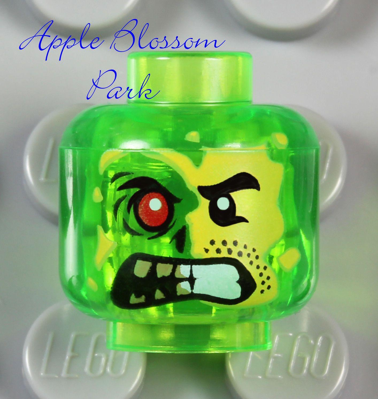 $1 49 Lego Adam Acid Minifig Head Trans Green Ultra Agents Monster