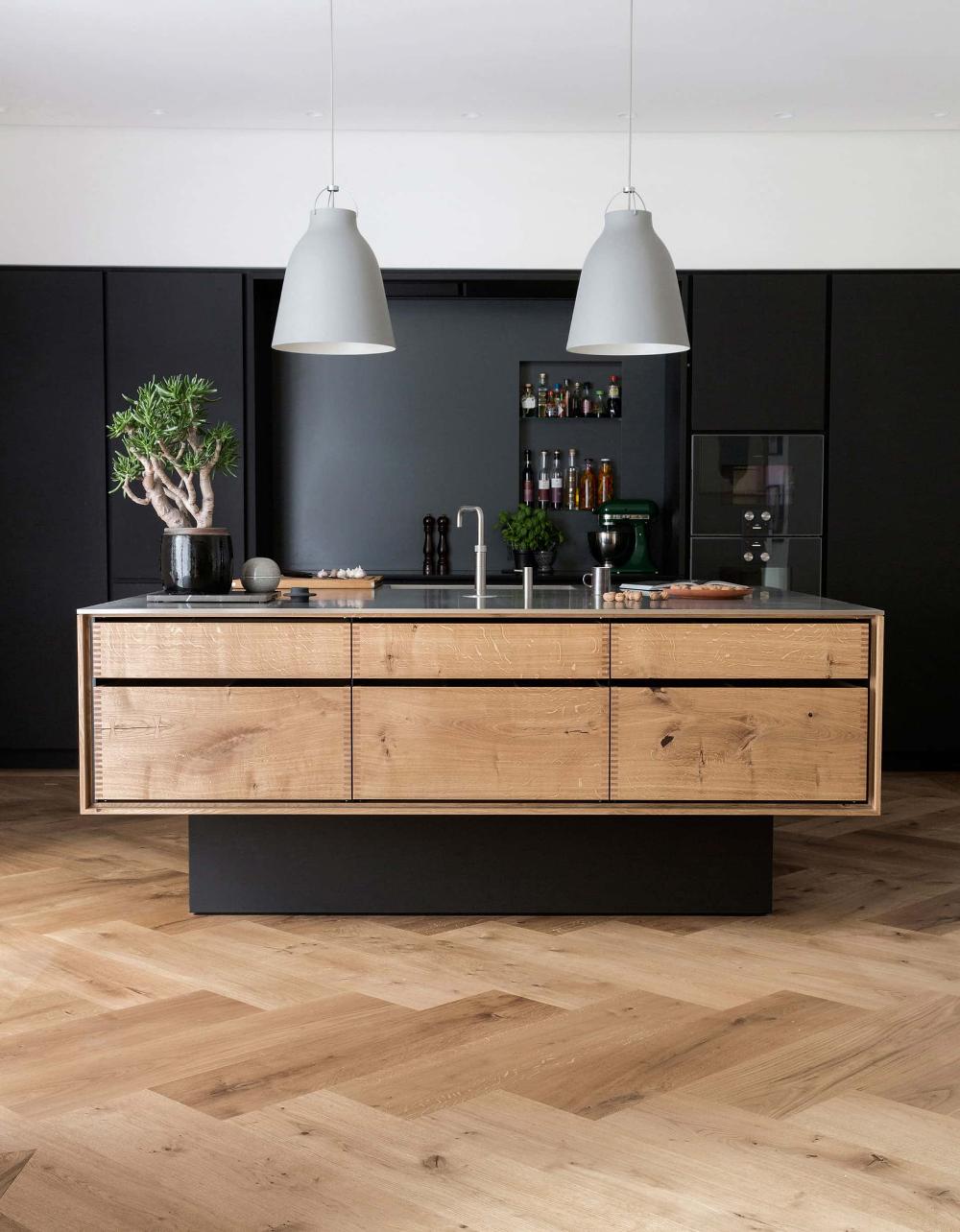 garde hvalsøe apartment  modern kitchen design
