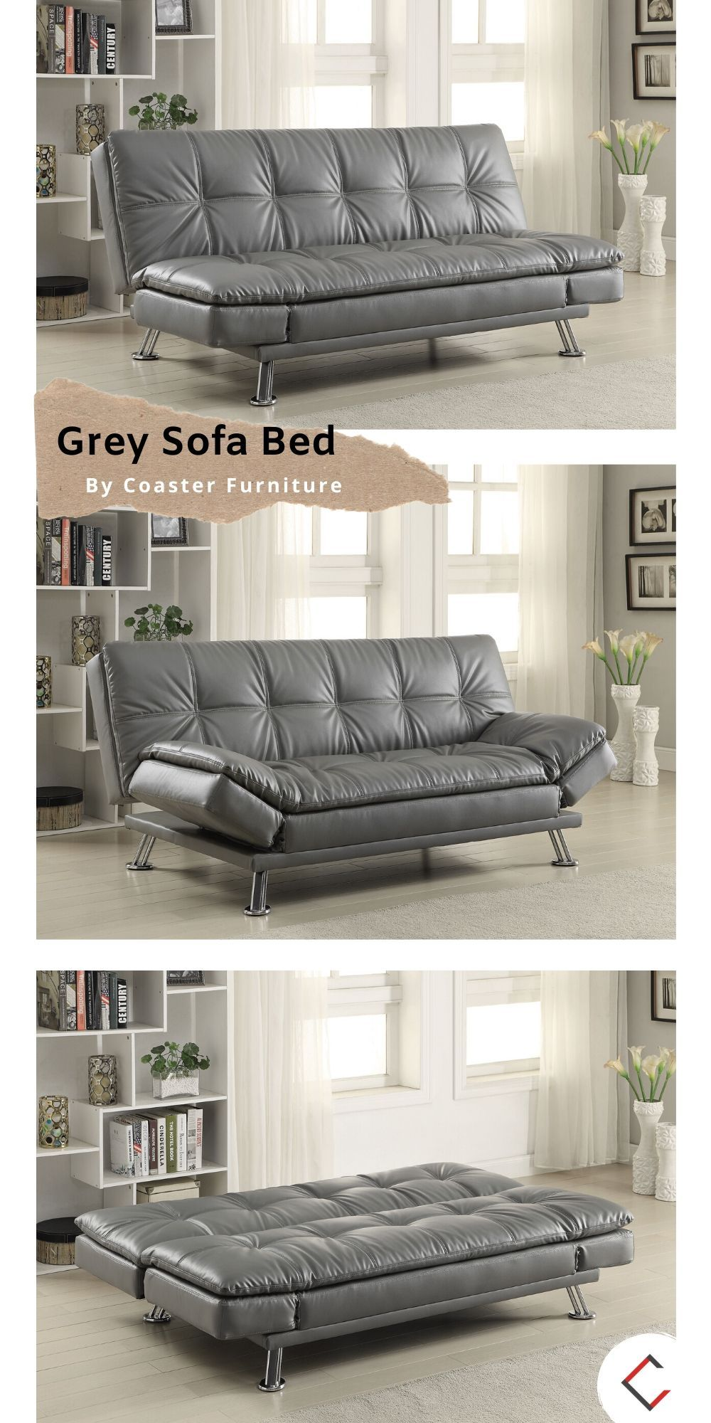 Coaster Furniture Dilleston Grey Sofa Bed In 2020 Furniture
