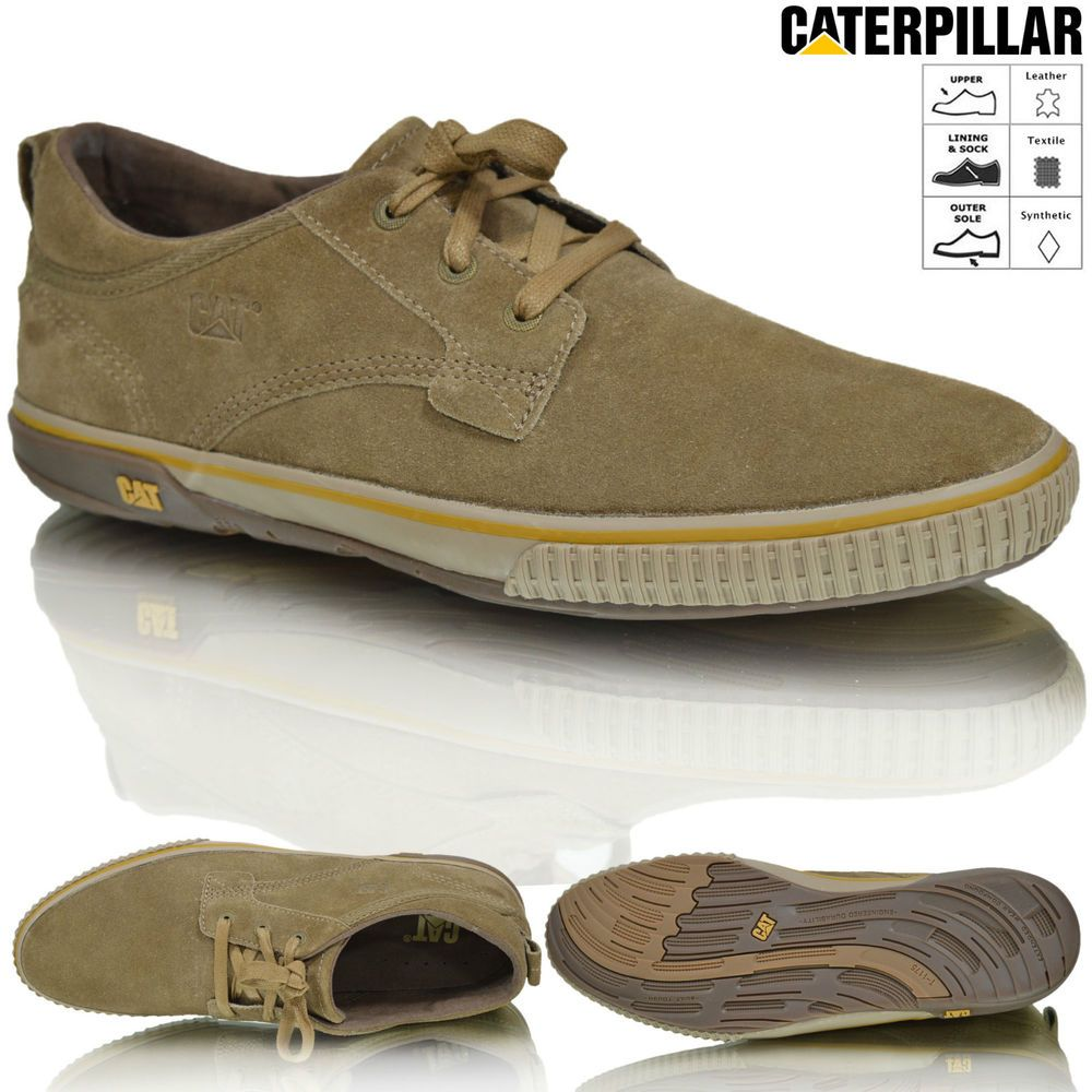 Mens Caterpillar CAT Leather Lace Up