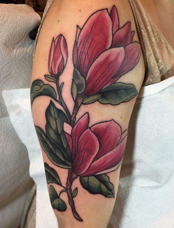 50+ Magnolia Flower Tattoos | Magnolia tattoo, Flower ...