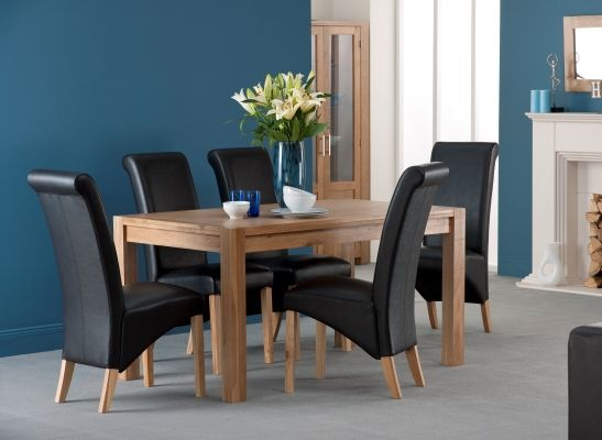 Colorado American White Oak Wooden Dining Table 6 Chairs 924 95