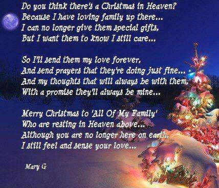Do you think there s a Christmas in Heaven