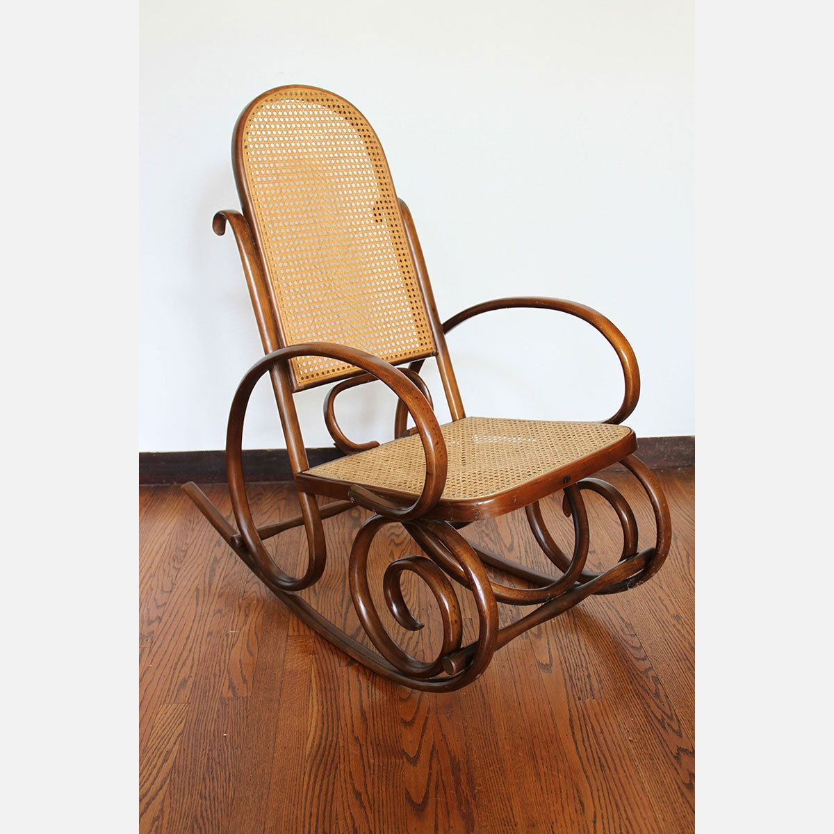 New Rocking Chair with Stool