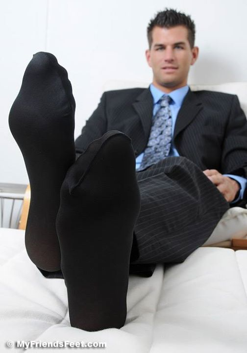 Gay men in black socks
