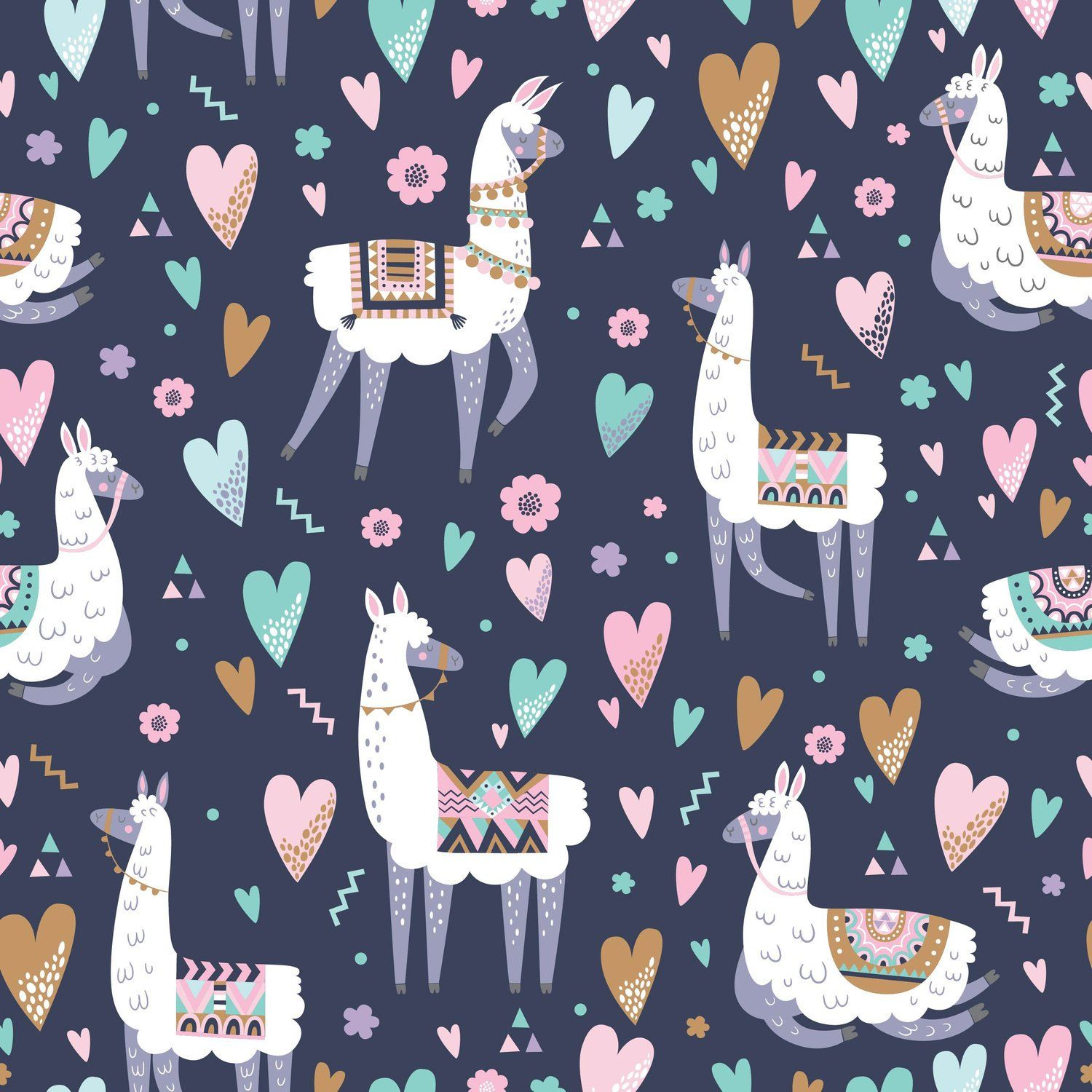 Gift Wrap Lovely Llama Birthday Gift Wrap Bridal Shower Gift