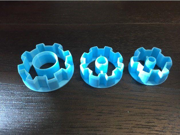 Gear Steampunk Robots Custom 3D Printed Cookie Cutter Stamp fondant