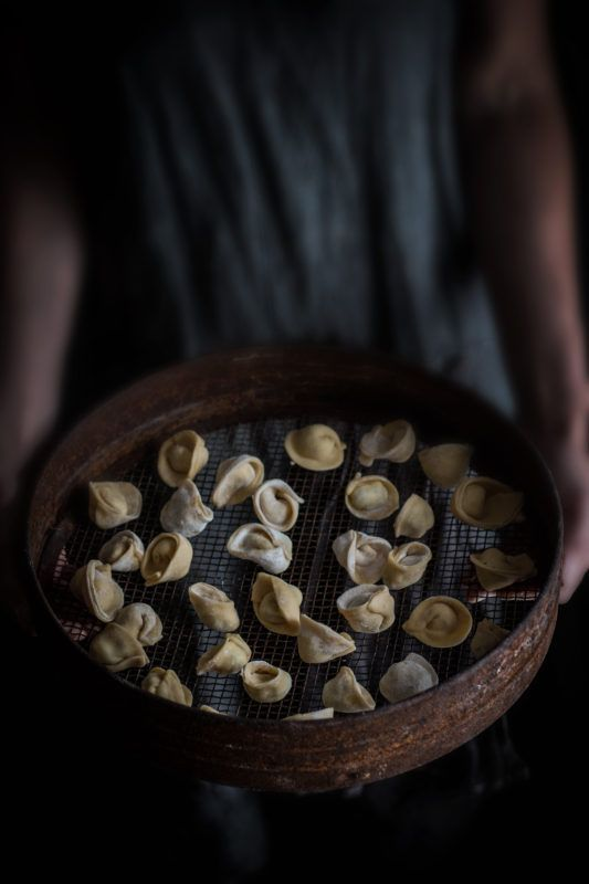 mushroom and ricotta tortellini and photos from italy twigg studios