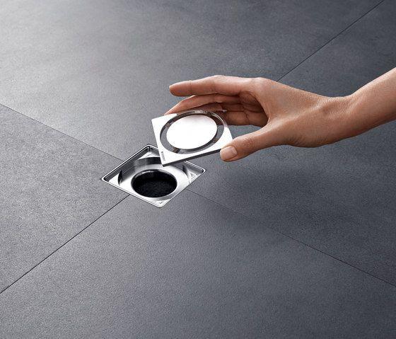 Geberit Floor Drain For Showers By Geberit Floor Drains Flooring Basement Flooring