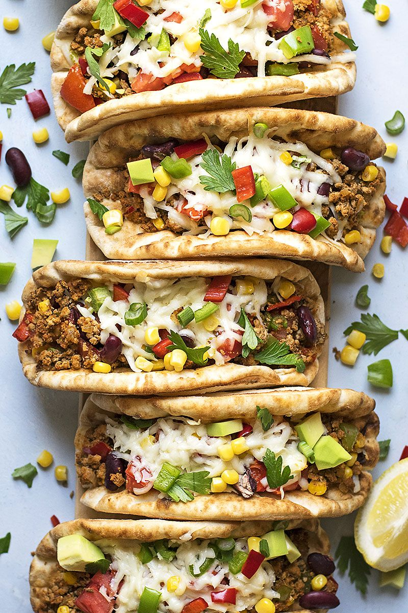 Pitacos Pita Bread Tacos With Minced Beef And Beans Recipe Pita Bread Recipes Pita Recipes