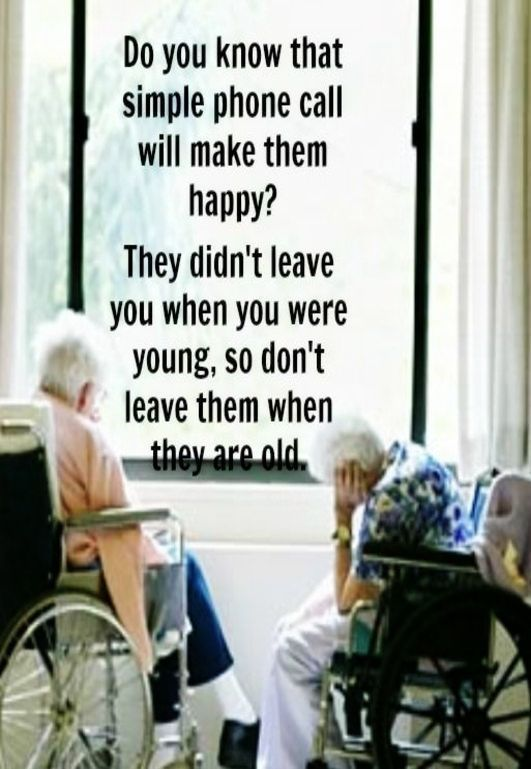 Taken for granted in old age by the very people we've ...