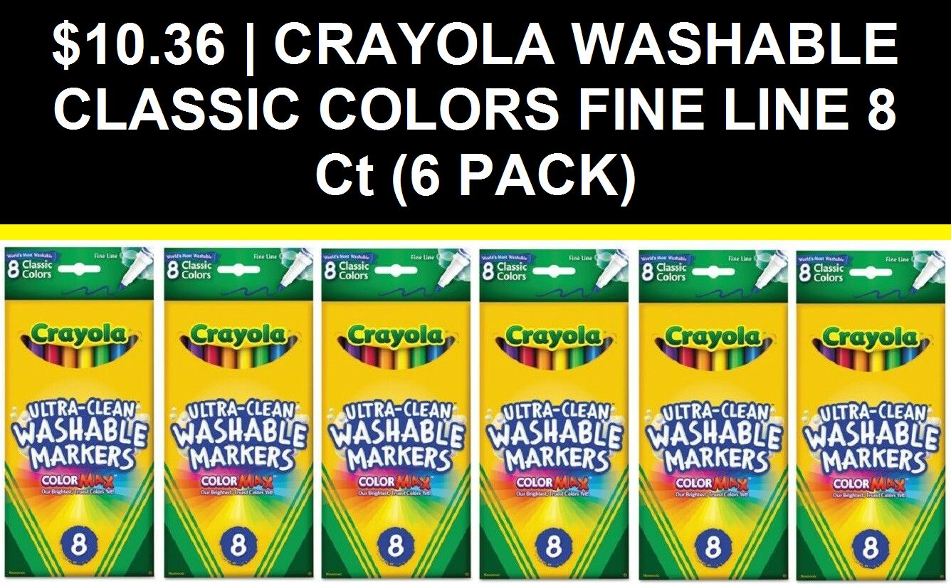 Drawing And Painting 160717 Crayola Washable Classic Colors Fine