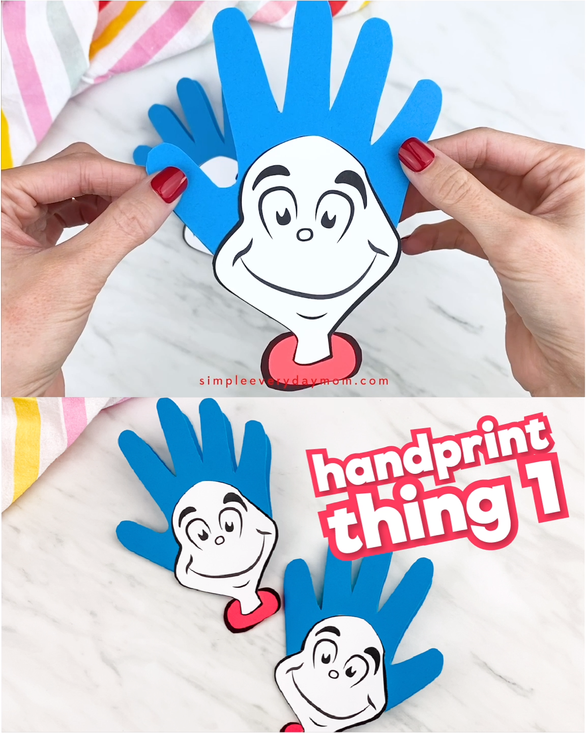 Handprint Thing 1 Printable Craft