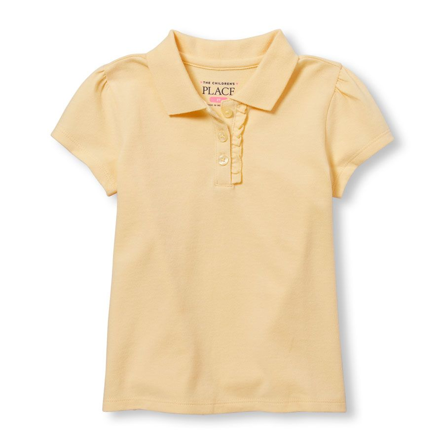 The Childrens Place Baby Girls Toddler Short Sleeve Uniform Polo