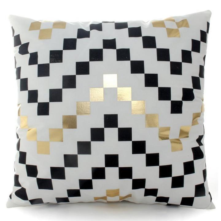 Rectangle taie géométrique marbre Cushion Cover Home Decor Cotton Linen