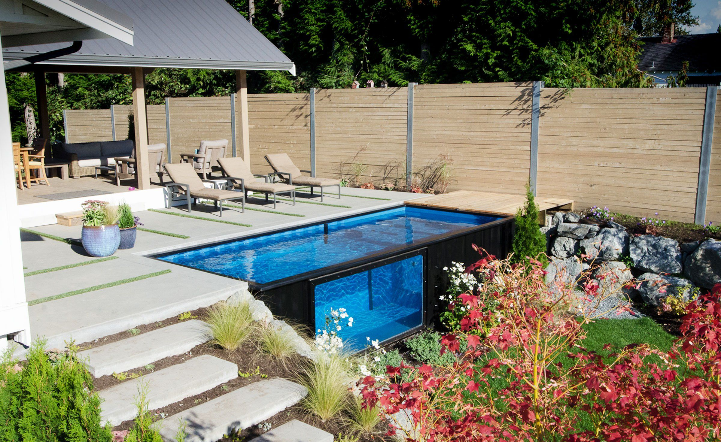 Modpool shipping container pool container pool ground pools and