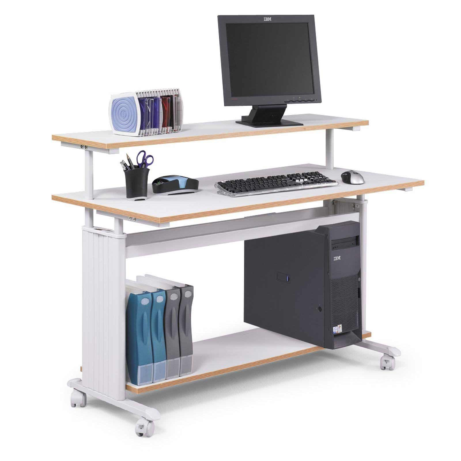 Computer Workstation Ideas Part - 20: Furniture, Furniture Cute White Maple Wooden Computer Desk White Dashing  Computer At Narrow Computer Table Design: Interisting Awesome Simpe Design  Office ...
