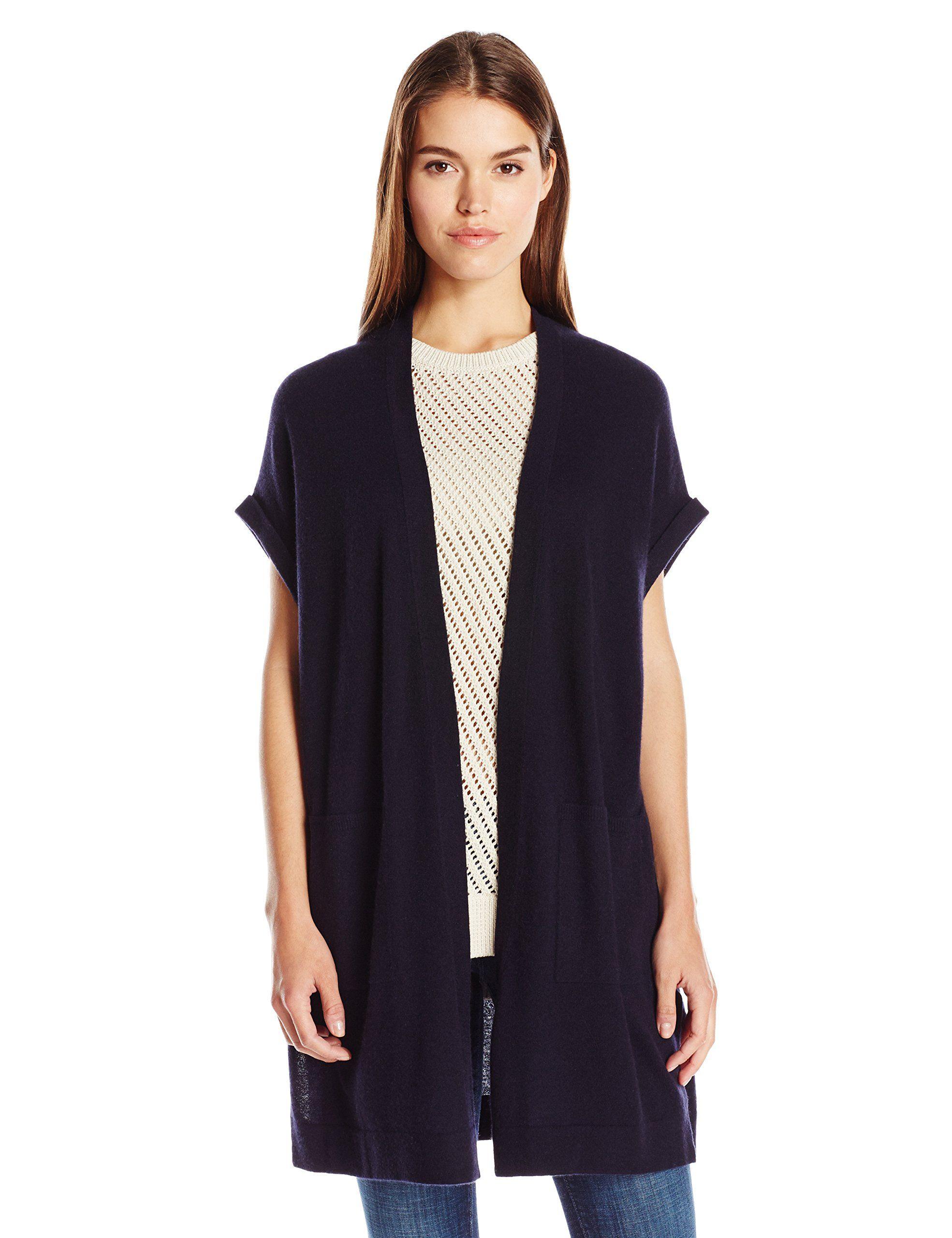 Vince Women's Sweater Vest, Coastal, X-Small. Signature Vince ...