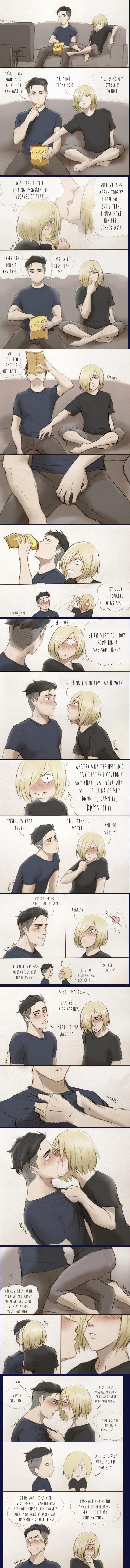 No es que haya visto la serie o que sea fanática del yaoi, pero me pareció gracioso :v