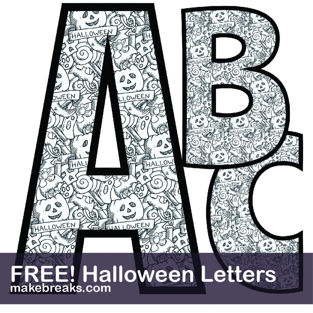 Free Printable Letters Numbers Archives Page 2 Of 13 Make Breaks Halloween Letters Alphabet Coloring Pages Alphabet Coloring