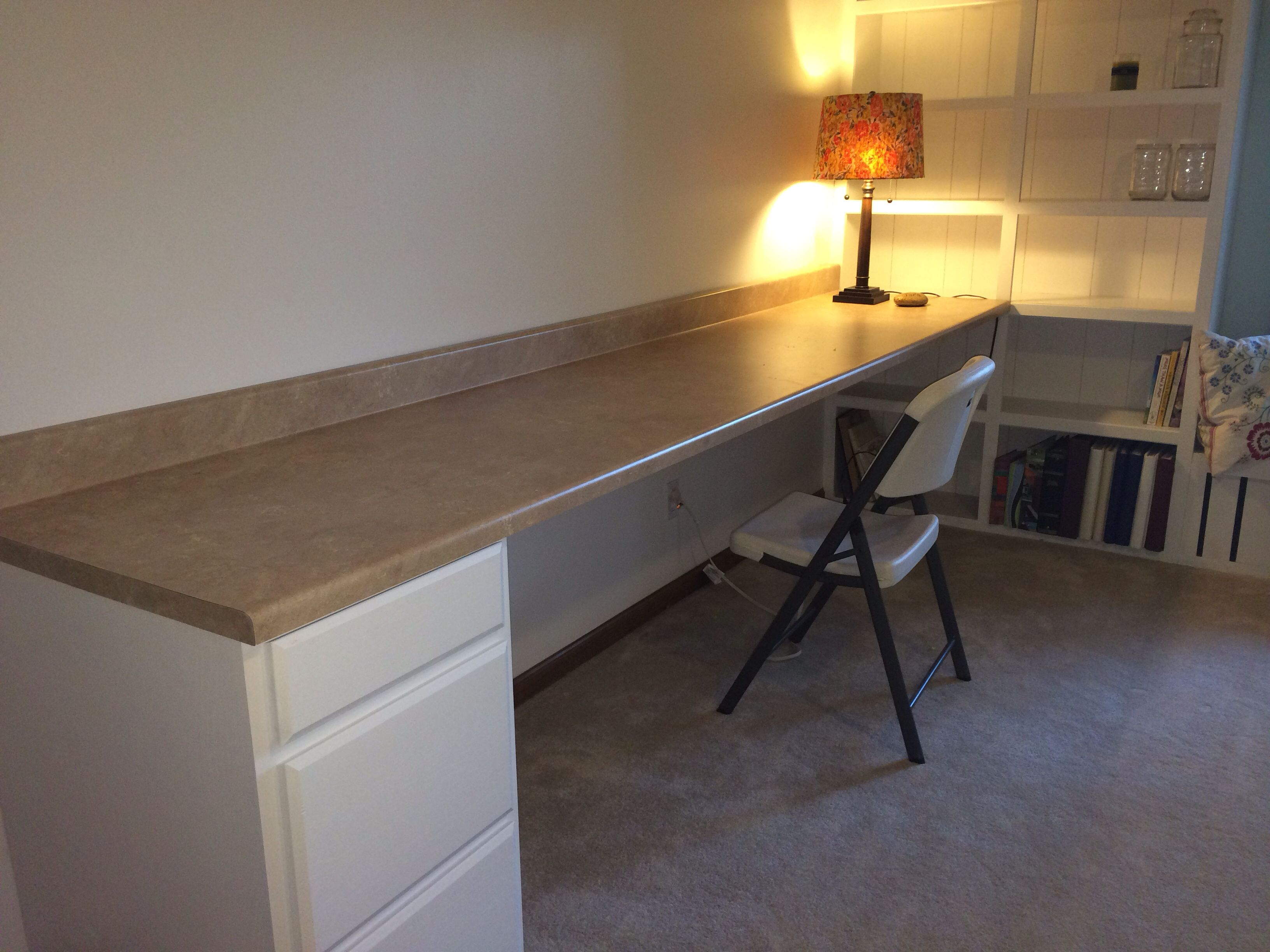 Laminate Countertop Desk Craft Room 10 Foot Laminate Countertop From Lowes 105 00