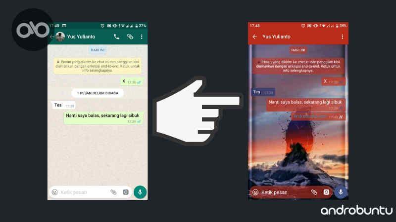Cara Mengubah Tema Whatsapp Di Ponsel Android 100 Work Android Aplikasi Ponsel