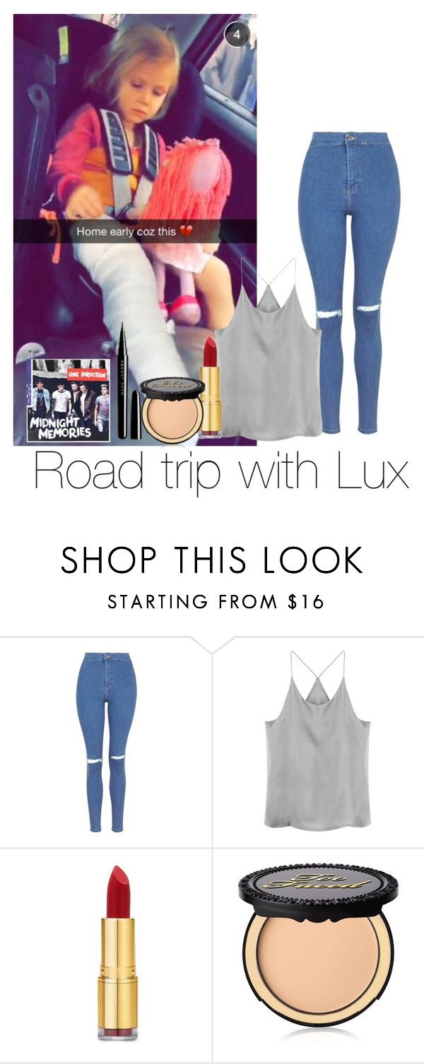 """""""Road trip with Lux"""" by autumnfarmer ❤ liked on Polyvore featuring Topshop, Isaac Mizrahi, Too Faced Cosmetics and Marc Jacobs"""