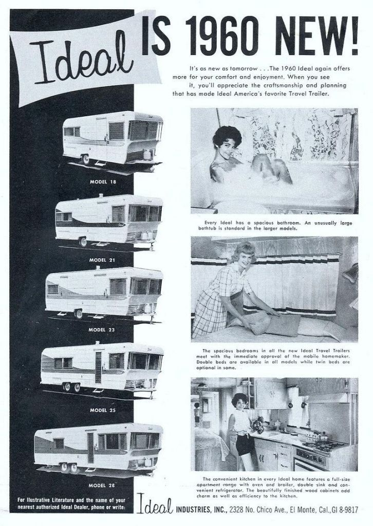 1960 Ideal Travel Trailers...with tubs! | Vintage Ads | Pinterest ...