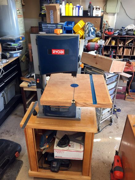 Band Saw Table Upgrade Bandsaw Diy Bandsaw Woodworking Table Saw