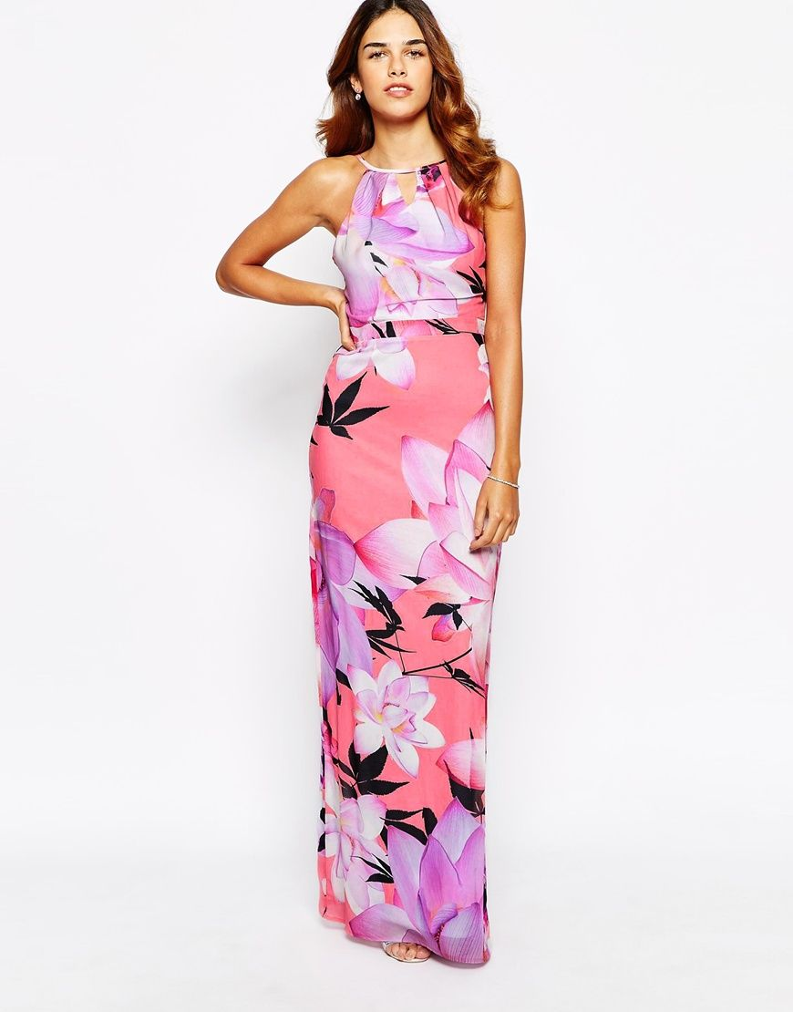 Lipsy Large Floral Chiffon Maxi Dress C$41.34 | Bridesmaid | Pinterest