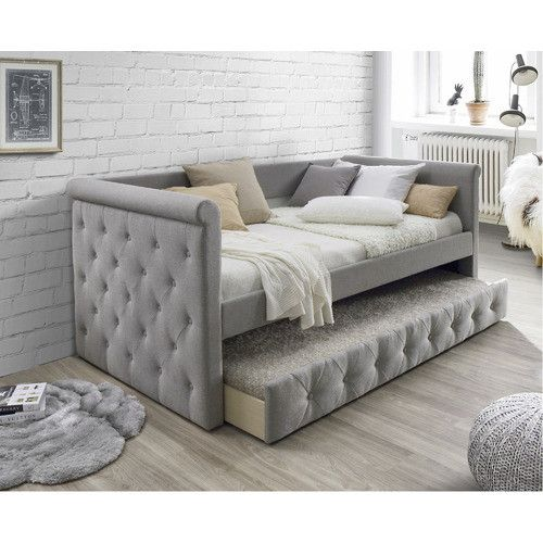 Arles Single Sofa Daybed With Trundle Comfortable Sofa Bed Daybed With Trundle Sofa Bed For Small Spaces