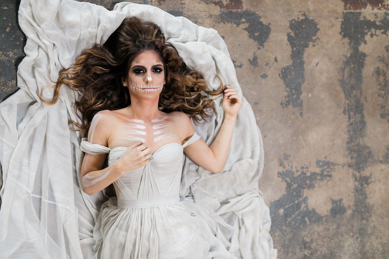 Wispy bones ud fine art halloween bridal session by ryann lindsey