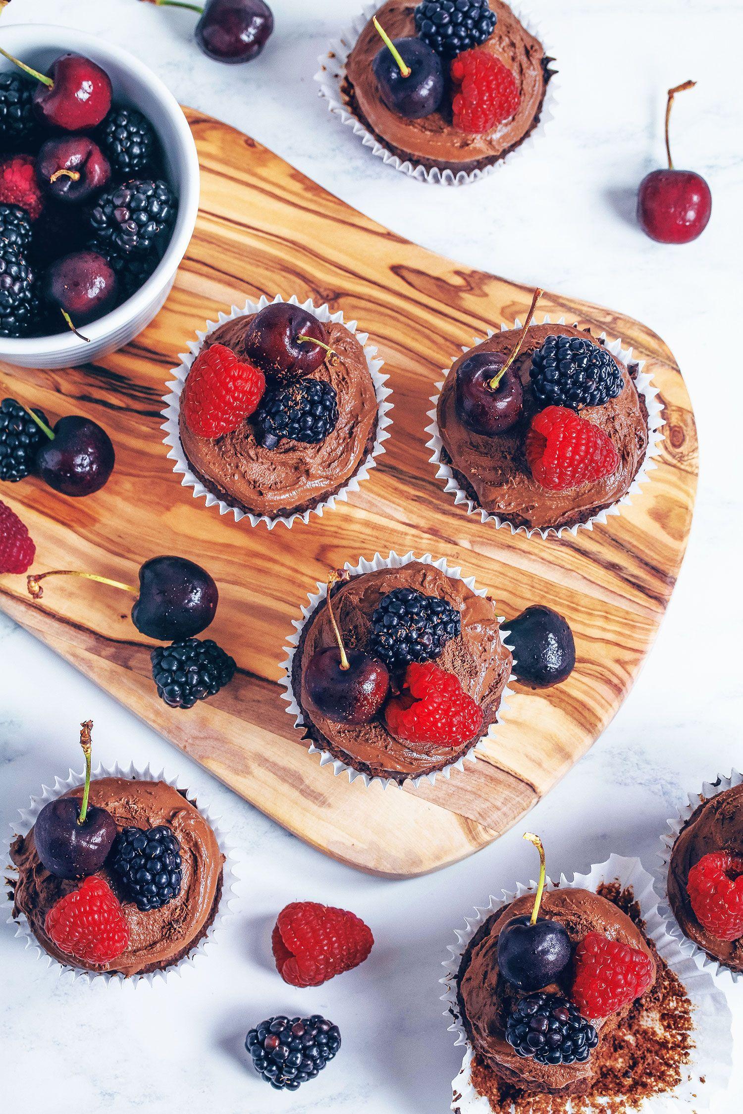 Chocolate ganache cupcakes vegan glutenfree vegan