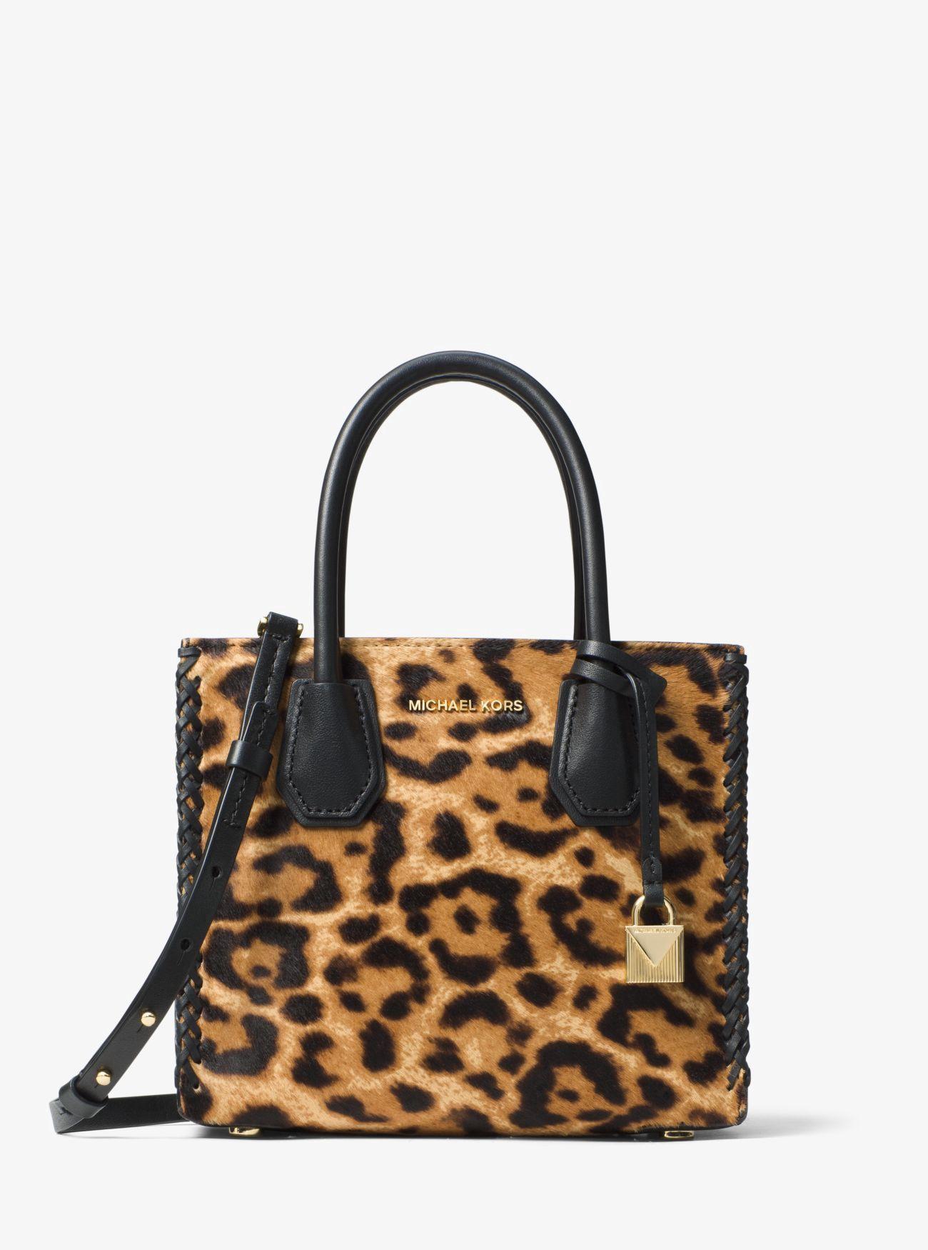 ff4cb5c8fb4d MICHAEL KORS Mercer Leopard Calf Hair Crossbody. #michaelkors #bags #canvas  #fur #crossbody #lining #polyester #shoulder bags #hand bags #