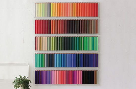 48fe60764f58 Felissimo s 500 colored pencil set for Social Designer - Can you imagine  having this many  I love the storage idea. Pretty to look at instead of  leaving ...