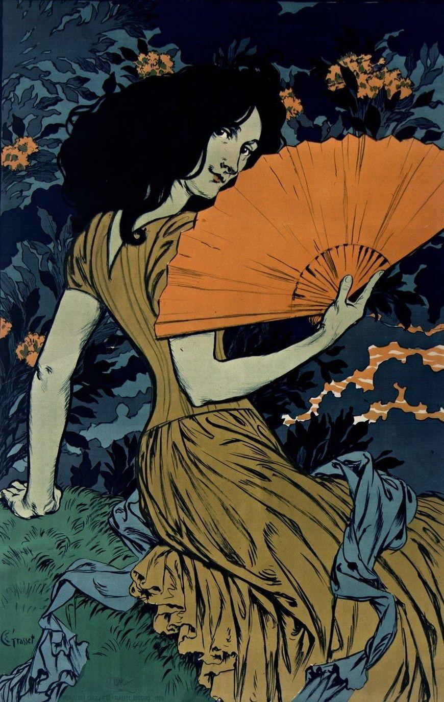 L'Eventail] | Eugène-Samuel Grasset (1845-1917) | 1900