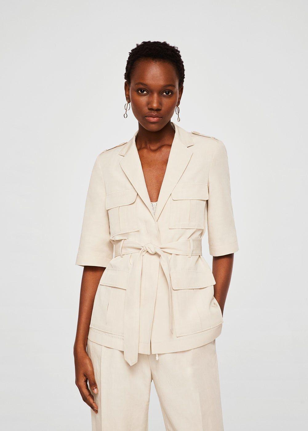 7bef133b74 Giacca lino tasche - Donna | Mng & Zara | Pinterest | Giacca, Mango ...