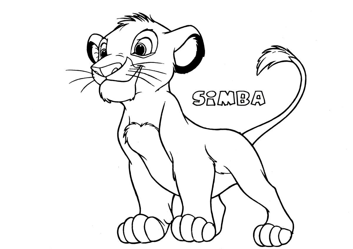 simba coloring page # 2